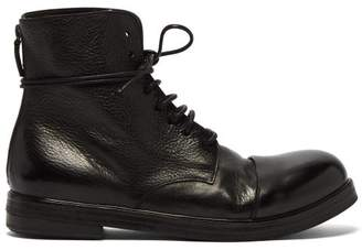 Marsèll Zucca Zeppa Toe Cap Leather Boots - Mens - Black