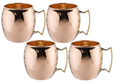 Old Dutch Hammered Moscow Mule Mugs (Set of 4)