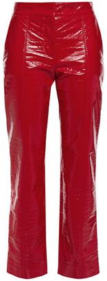 MSGM Croc-effect Vinyl Slim-leg Pants