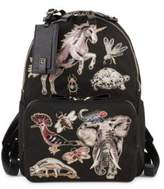 Valentino Garavani Patched Canvas Backpack