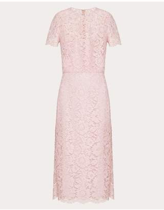 Valentino Heavy Lace Sheath Dress