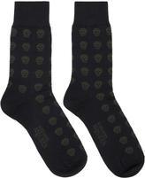 Alexander McQueen Navy Skull Socks