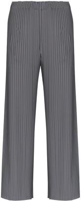 Issey Miyake Plisse Split-Detail Trousers