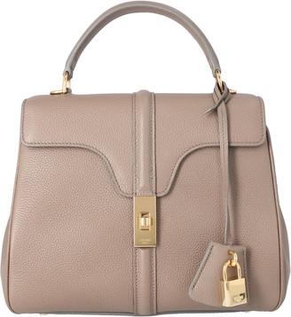 Celine Grey Calfskin Satinated Leather 16 Small Bag