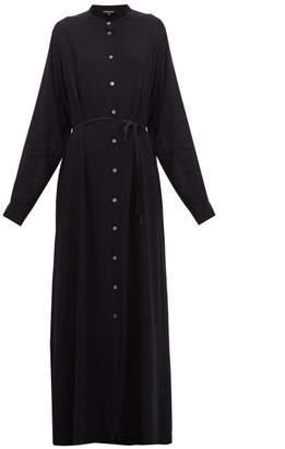 Ann Demeulemeester Ewing Buttoned Maxi Dress - Womens - Black