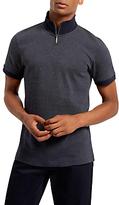 Jaeger Zip-up Polo Shirt, Navy