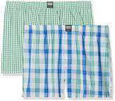 S'Oliver Men's 26.899.97.4230 Boxer Shorts, Mehrfarbig (Check Ivory and Check Green 11c5)