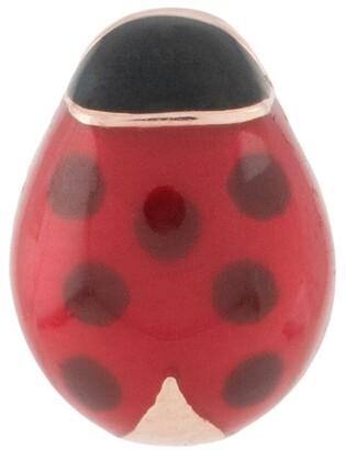 Dodo 9kt rose gold Ladybug stud earring