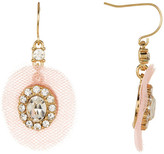 Carolee Tulle Pave Stone Drop Earrings