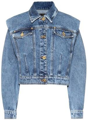 Versace Cropped denim jacket