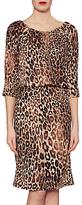 Gina Bacconi Ines Leopard Print Dress, Brown/Black