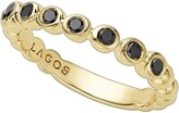 Lagos Black Diamond Caviar Stacking Ring