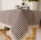 """Aimeer Cotton Linen Tablecloths for rectangle tables Washable Dinner Picnic Table Cloth Home Decorative Table Cover Assorted Size(55"""" W x 86.7"""" L /140x 220cm)"""