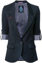 GUILD PRIME striped reverse blazer - women - Polyester - 34
