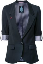GUILD PRIME striped reverse blazer
