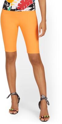 New York & Co. Whitney High-Waisted Biker Pull-On Short - 11-Inch