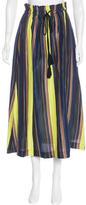 Apiece Apart Striped Midi Skirt
