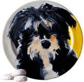 Anthropologie Sally Muir Dog-a-Day Dessert Plate, Dia.21.5cm, Shaggy Dog