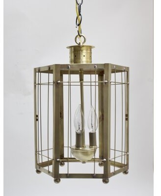 Darby Home Co Chearsley 3-Light Foyer Hanging Lantern Finish: Antique Brass