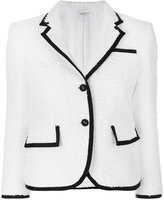 Thom Browne contrast trim tweed jacket