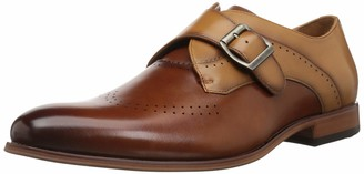 Stacy Adams Men's Saxton Perf Wingtip Monk Strap Loafer