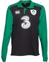 Canterbury of New Zealand Mens Ireland Classic Long Sleeve Alternate Shirt Black