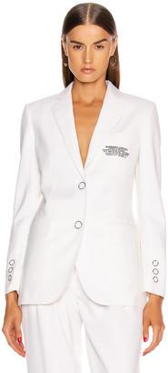 Burberry Sidon Tailored Blazer in Optic White | FWRD