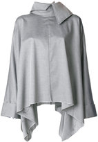 Marques Almeida Marques'almeida large collar flared shirt