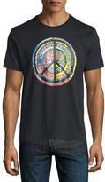 Robert Graham Multicolored Peace Sign Short-Sleeve T-Shirt, Black