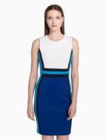 Calvin Klein Colorblock Scuba Sheath Dress