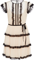 RED Valentino Short Sleeve Tiered Dress