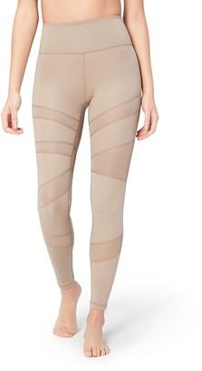 Core 10 Women's Icon Series - The Warrior Mesh Leggings Grey (taupe) Medium