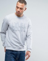 Lyle & Scott Logo Applique Sweatshirt Crew Neck in Gray