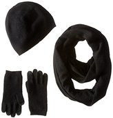Sofia Cashmere Women's Gift Box Set-Hat, Smartphone Gloves, and Infinity Scarf