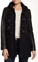Andrew Marc Wool Blend & Genuine Leather Coat