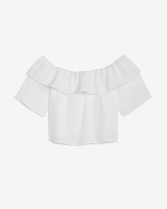 Express Layered Off The Shoulder Top