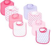 Luvable Friends Pink Geometric Drooler Bib Set