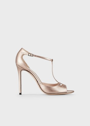 Giorgio Armani Laminated Leather Sandals