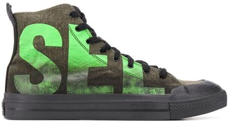 Diesel Logo High-Top Trainers