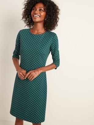 Old Navy Ponte-Knit Long-Sleeve Sheath Dress for Women