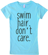 Micro Me Aqua 'Swim Hair Don't Care' Crewneck Tee - Toddler & Girls