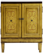 Lux Home Callie Hand Painted Natural Wooden Accent Cabinet