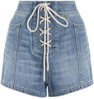 Zimmermann Juliette Lace Up Shorts