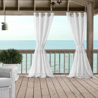 "Bali Sheer Indoor/Outdoor Tieback Curtain Panel, 52"" x 84"""