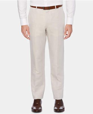 Perry Ellis Men Portfolio Modern-Fit Linen/Cotton Solid Dress Pants