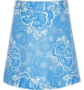 River Island Girls blue floral print A-line skirt