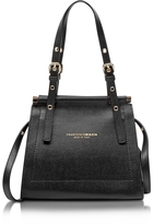 Francesco Biasia Narciso Lizard Embossed Leather Satchel bag