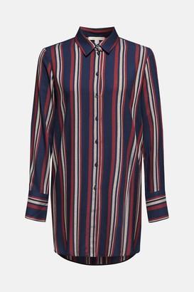 Esprit Maroon Striped Shirt Dress - 8 (UK)