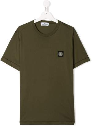 Stone Island Junior logo patch T-shirt