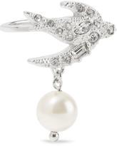 Miu Miu Silver-plated, Swarovski Crystal And Faux Pearl Ring - S